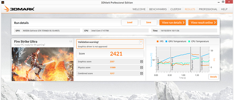 3DMark updated with 4K Fire Strike Ultra benchmark