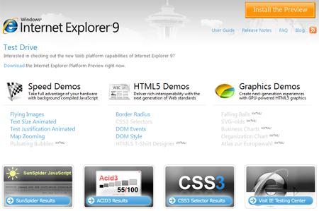 دانلود نسخه نمایشی مرورگر Internet Explorer 9 Platform Preview 1.9.7745.6019