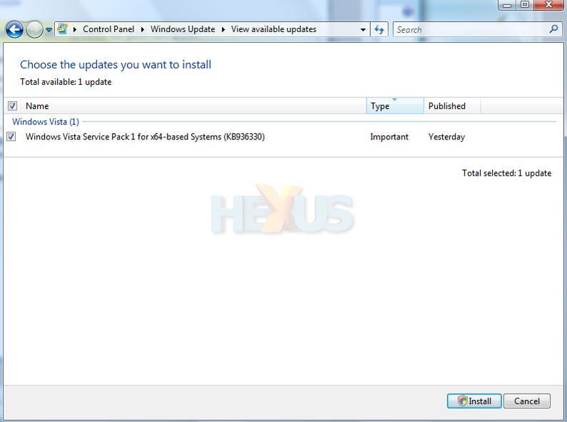 windows vista 64bit service pack 2