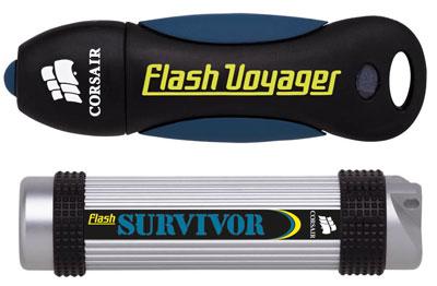 Corsair's 32GB Flash Voyager and Flash Survivor