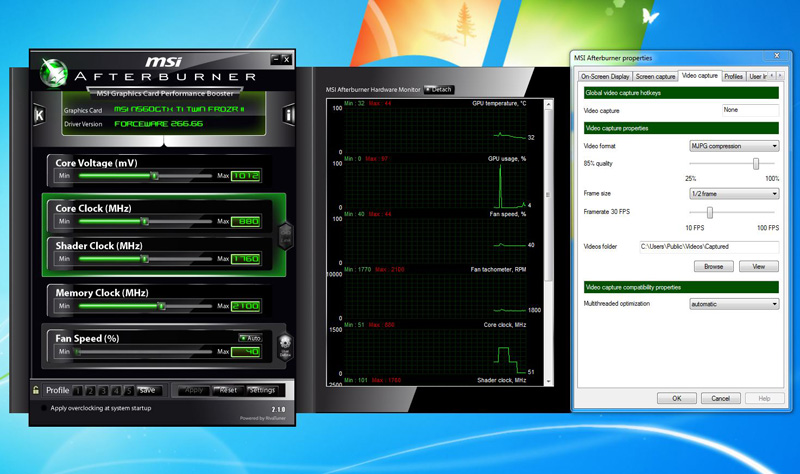 MSI trots out updated Afterburner 2 1 0 overclocking utility