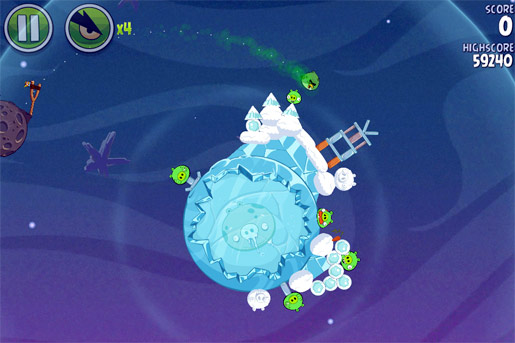 angry birds space gameplay