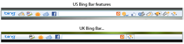 Bing Bar US and UK, spot the difference