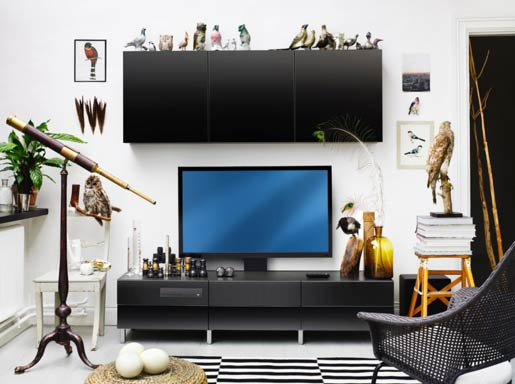 ikea unveil furniture with built in tv and blu ray retailers news. Black Bedroom Furniture Sets. Home Design Ideas