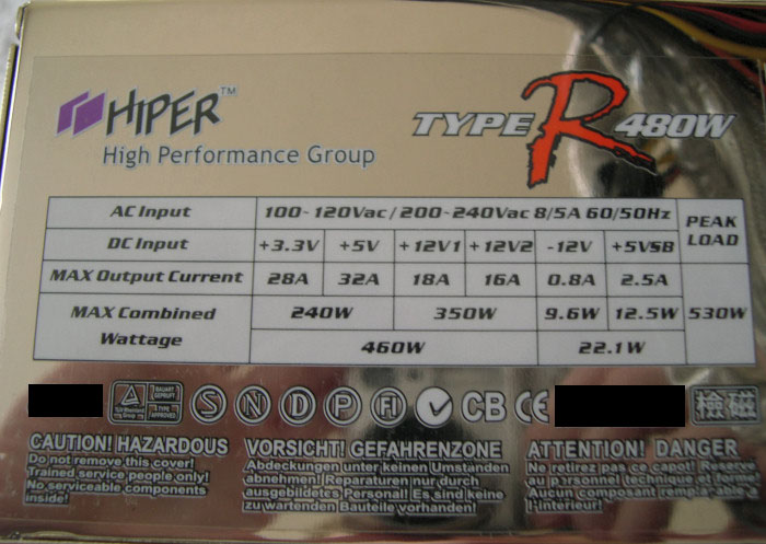 how to find your power supply specs